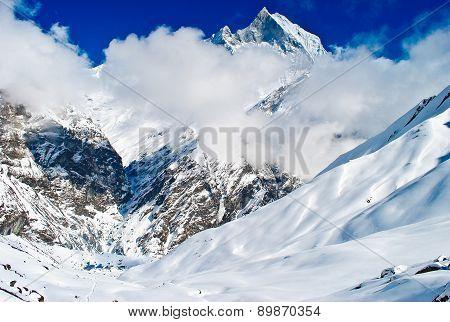 Himalayan Mountains And Base Camp