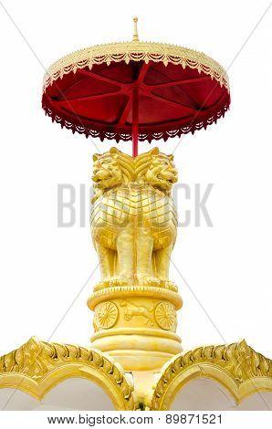 Golden  Lion Statue