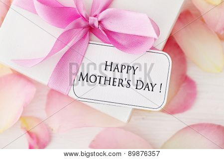 happy mothers day gift and flowers