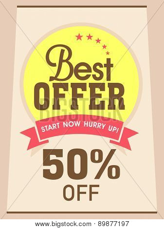 Best discount offer flyer, banner or poster for your business.