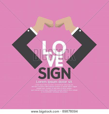 Hands Making Heart Sign.