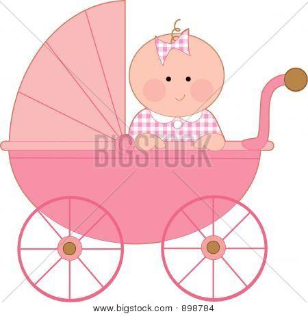 Cochecito de bebé niña