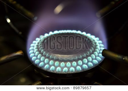 Flame Of A Gas Burner