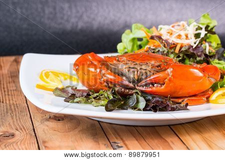 .fried Crab And Sald Vegetable