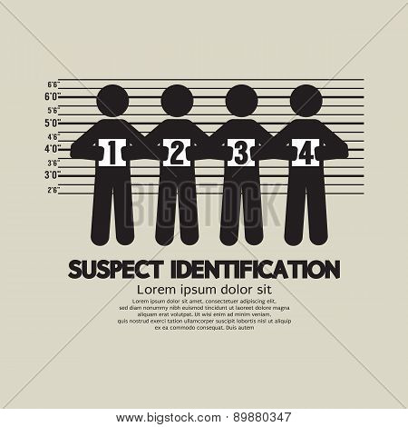 Suspect Identification Graphic Symbol.