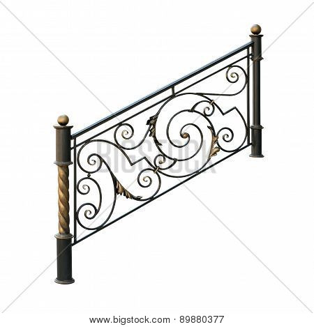 Decorative,  Lattice  Banisters.