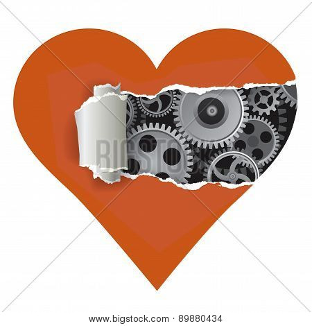 Heart With Gear