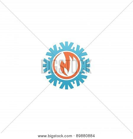 Heat and Cold abstract Branding Identity Corporate vector logo