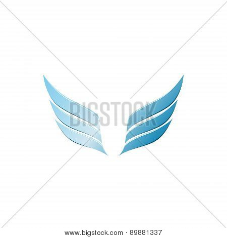 vector 3d abstract wing flying logo for company