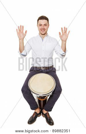 Djembe Between The Legs