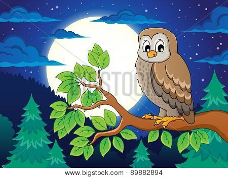Owl topic image 4 - eps10 vector illustration.