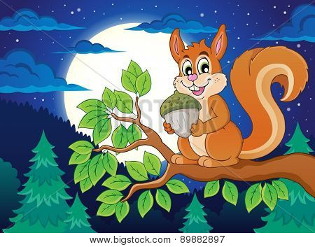 Image with squirrel theme 5 - eps10 vector illustration.