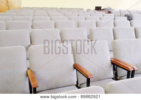 Rows of chairs in the hall