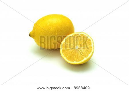 One lemon and half of lemon