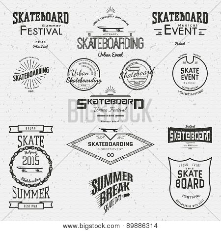 Skateboard Badges Logos And Labels For Any Use
