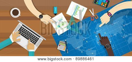 collaboration blueprint teamwork working desk