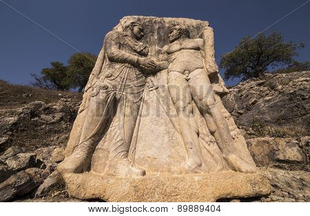 King Mithridates Shaking Hands With God Herakles