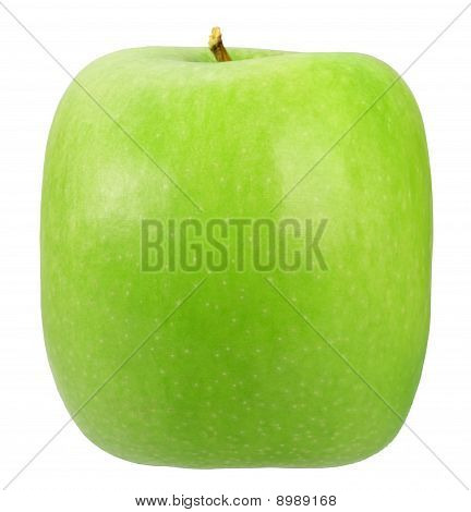 Single Square Green Apple