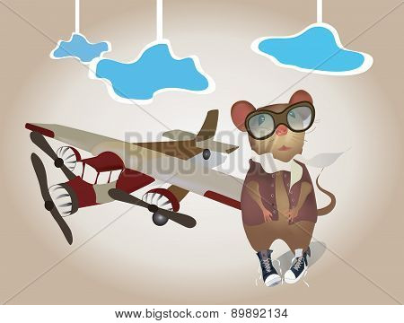 Plane And Mouse