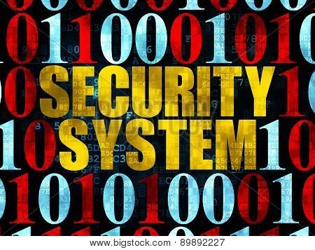 Security concept: Security System on Digital background