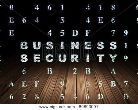 Safety concept: Business Security in grunge dark room