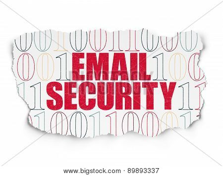 Safety concept: Email Security on Torn Paper background
