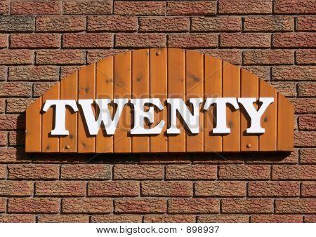 Twenty House Number. 40250