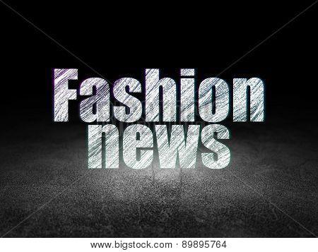 News concept: Fashion News in grunge dark room