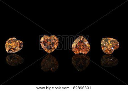 Gemstone. Collections of jewelry background.