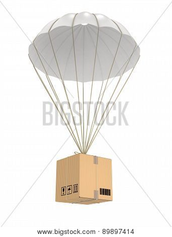 Parachute package flying