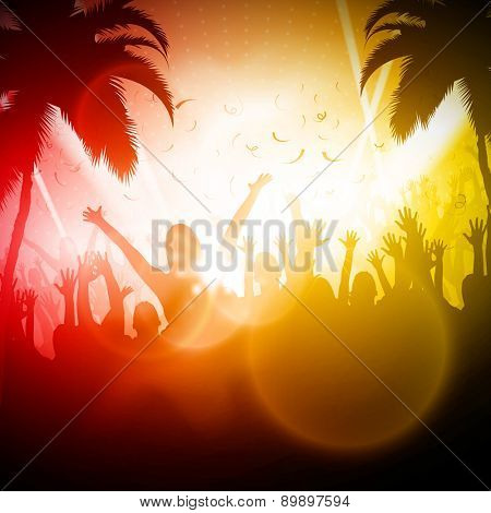 Party People | Beach Party Vector Background | EPS10 Editable Design
