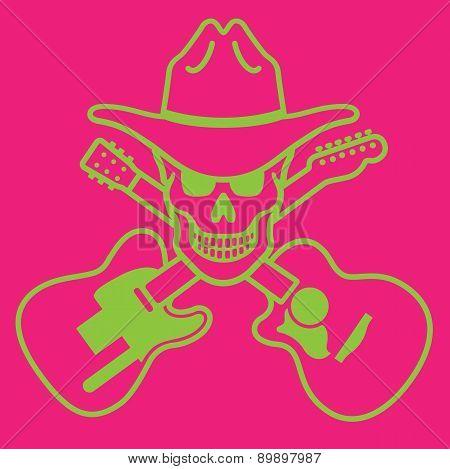Cowboy Skull Vector Design.