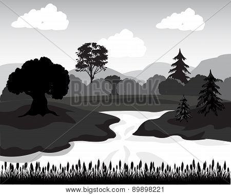 Landscape In Sulphur White Tone