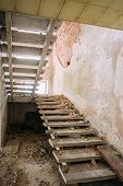 picture of nuclear disaster  - Abandoned House Interior In Chernobyl Resettlement Zone - JPG