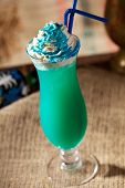 image of curacao  - Blue Curacao Alcohol Cocktail with White Cream - JPG