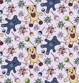 pic of jelly babies sugar  - Bright seamless pattern with bears and candy - JPG