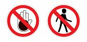 pic of no entry  - Vector red round icons - JPG