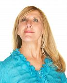 picture of snob  - Beautiful middle aged Caucasian female over white background - JPG