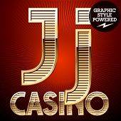pic of letter j  - Vector set of elite rich gold alphabet - JPG