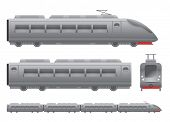 picture of passenger train  - Grey Passenger train - JPG