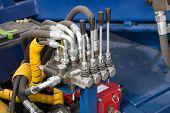 foto of levers  - Hydraulic tubes - JPG