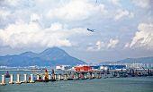 stock photo of hong kong bridge  - construction site of Hong Kong Zhuhai Macau Macao Bridge at day - JPG