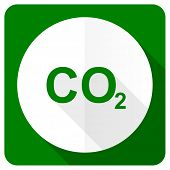 image of carbon-dioxide  - carbon dioxide flat icon co2 sign  - JPG