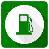 stock photo of petrol  - petrol flat icon gas station sign  - JPG