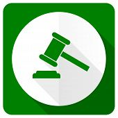 image of court hammer  - auction flat icon court sign verdict symbol  - JPG