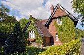 stock photo of english cottage garden  - Traditional countryside cottages in Ireland - JPG