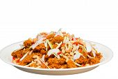 picture of catfish  - Crispy catfish spicy salad with sauce Thaifood - JPG