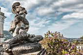 picture of sissi  - Statue of Wounded Achilles in the garden of Achillion palace on Corfu island - JPG