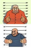 image of bandit  - Thief and bandit characters posing facing the viewer on the height chart - JPG