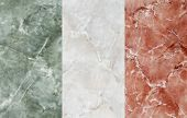 picture of italian flag  - collage of marble representing the Italian flag - JPG